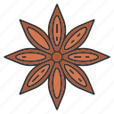 anise, aniseed, aroma, condiment, flower, seasoning, spice icon