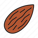 almond, amygdalaceous, condiment, culinary, flavor, ingredient, nut icon