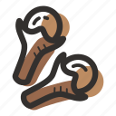 clove, cloves, cook, herb, ingredient, plant, spice icon