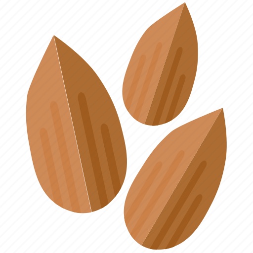 almond, almonds, cooking, ingredient, nuts icon
