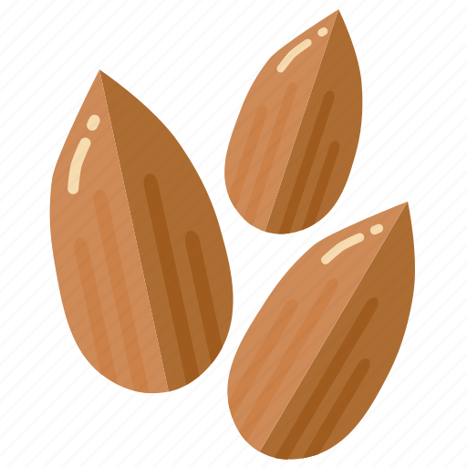 almond, almonds, ingredient, nut, nuts icon