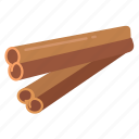 cinnamon, cooking, ingredient, masala, spices, sticks icon