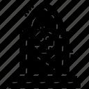 funeral, grave headstone, gravestone, graveyard stone, spooky graveyard icon