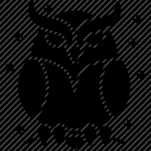 evil owl, halloween bird, halloween owl, night owl, scary bird icon
