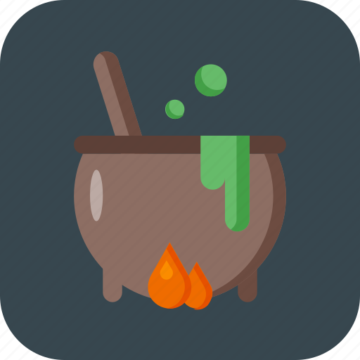 cooking, halloween, pot, soup icon