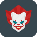 clown, creepy, halloween, pennywise icon