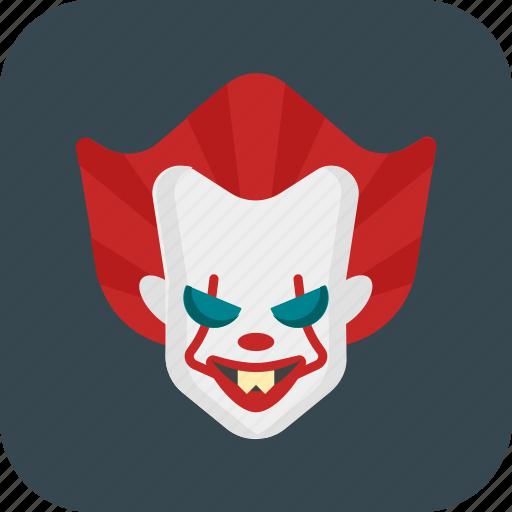 clown, creepy, halloween, pennywise icon