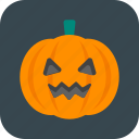 creepy, halloween, head, pumpkin icon