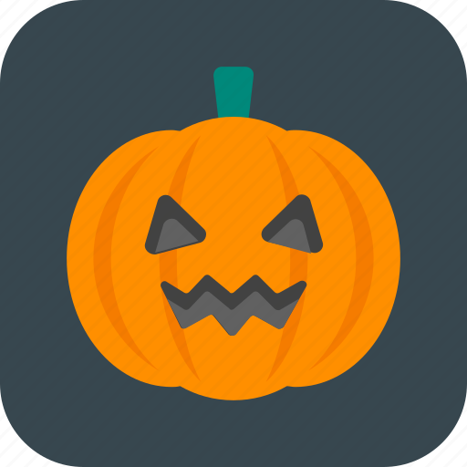 creepy, halloween, head, pumpkin icon