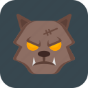 halloween, monster, werewolf, wolf icon