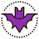 animal, bat, halloween, scary icon
