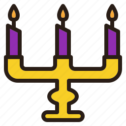 candle, halloween, holder, stand icon
