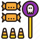 candy, halloween, treat, trick icon