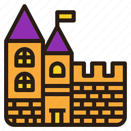 castle, ghost, house, old, resident, scary icon