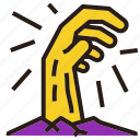 claw, ghost, halloween, hand, zombie icon