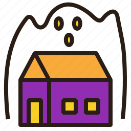 ghost, halloween, house, scary, spooky icon