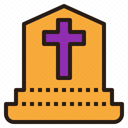cross, death, grave, halloween icon