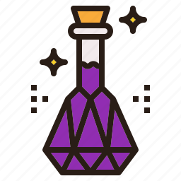 bottle, crystal, halloween, holy, water icon