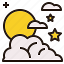 colud, night, scape, sky, star icon