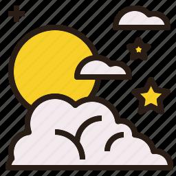 colud, night, scape, sky, star icon