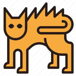 cat, fur, ghost, halloween, scary icon