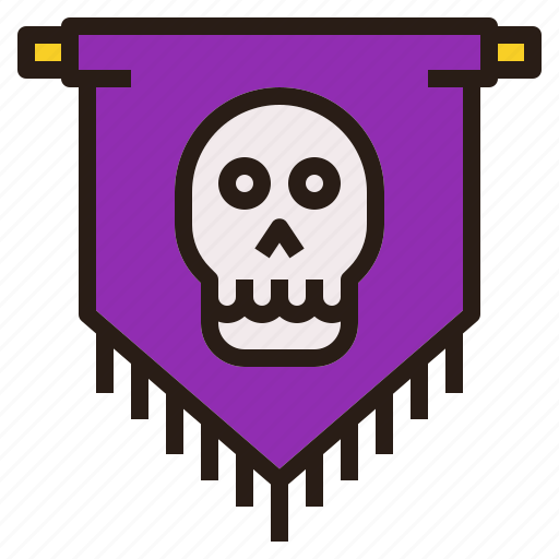 flag, halloween, scary, skull, spooky, team icon