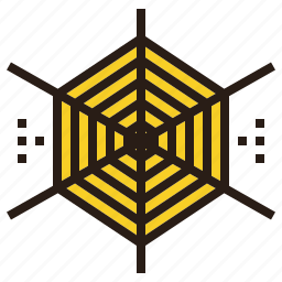 halloween, spider, trap, web icon
