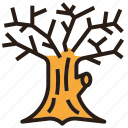 halloween, old, tree, trunk icon