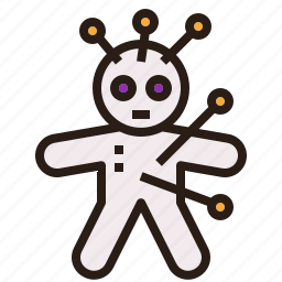 doll, halloween, holy, magical, spell, voodoo icon