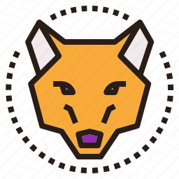 dog, fox, halloween, head, wolf icon