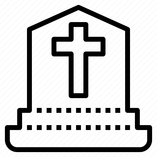 cross, death, grave, halloween icon