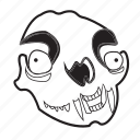 bones, creepy, halloween, monster, scary, skull, spooky icon
