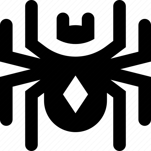black, spider, widow icon