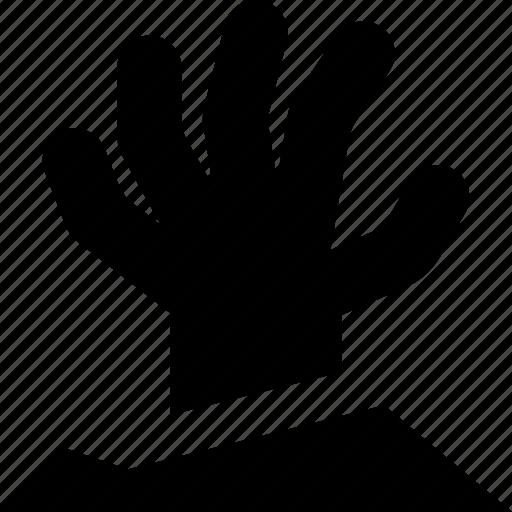 hand, zombie icon