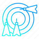 arrow, goal, sport, target icon