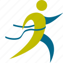 access, final, first, game, man, person, running, speed, sport icon