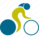athlete, bicycle, cycler, cycling, game, man, olympic, person, play, player, speed, sport, sports icon