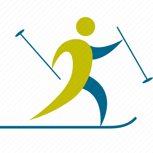 athlete, christmas, game, man, person, player, profile, skiing, sport, sports, winter icon
