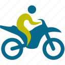 bicycle, player, person, game, motorcycle, vehicle, sport, man, play, sports, transportation, people
