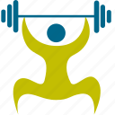 athlete, game, lifting, man, person, play, player, sport, sports, weight icon