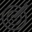 arrow, dart, dartboard, goal, target icon