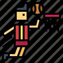 ball, basketball, people, sport icon