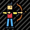 archery, people, sport, sportsman icon