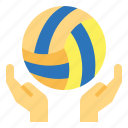 ball, equipment, sports, volleyball icon
