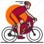 bicycle, bikers, cycling, cyclists, exercise, game, sport icon