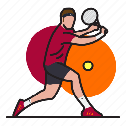 ball, game, longtennis, player, racket, sport, tennis icon