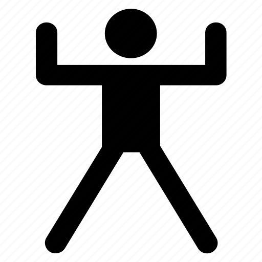 activity, health, people, sport, stand up, stretching icon
