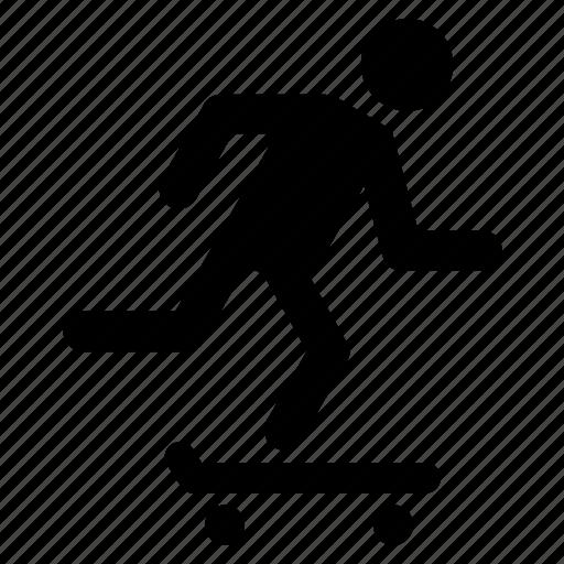 activity, health, people, skateboard, skating, sport icon