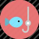 fish, fishing, race icon