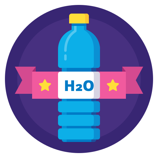 badge, bottle, drink, h2o, hydration, sport, water icon